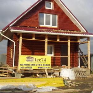 Строительство домов из оциллиндрованного бревна, пиломатериалы